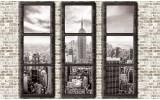 Fotobehang Skyline, Muur | Grijs | 152,5x104cm