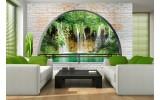 Fotobehang Natuur, Muur | Groen | 312x219cm