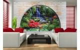 Fotobehang Natuur, Muur | Groen | 104x70,5cm
