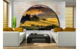 Fotobehang Natuur, Muur | Geel | 208x146cm