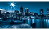 Fotobehang Steden, Skyline | Blauw | 104x70,5cm