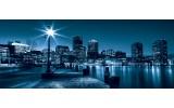 Fotobehang Steden, Skyline | Blauw | 250x104cm