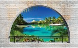 Fotobehang Natuur | Groen, Blauw | 312x219cm