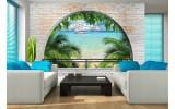 Fotobehang Natuur, Strand | Groen, Blauw | 152,5x104cm