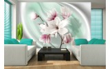 Fotobehang Bloemen, Magnolia | Roze | 416x254
