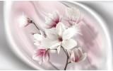 Fotobehang Bloemen, Magnolia | Roze | 104x70,5cm