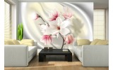 Fotobehang Bloemen, Magnolia | Roze | 312x219cm