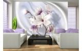 Fotobehang Papier Bloemen, Magnolia | Paars | 368x254cm