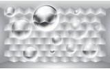 Fotobehang 3D, Design | Zilver | 208x146cm