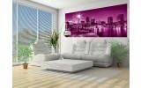 Fotobehang Skyline   Roze, Paars   250x104cm