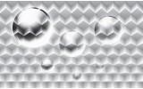 Fotobehang 3D, Modern | Zilver | 104x70,5cm