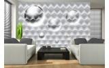 Fotobehang Papier 3D, Modern | Zilver | 368x254cm