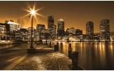 Fotobehang Skyline | Geel, Bruin | 104x70,5cm