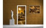 Deursticker Muursticker Steden | Goud | 91x211cm
