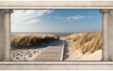 Fotobehang Strand, Zee | Crème | 208x146cm