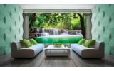 Fotobehang Waterval, Natuur | Groen | 152,5x104cm