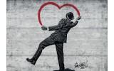 Fotobehang Street Art | Zwart, Rood | 104x70,5cm