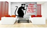Fotobehang Street Art | Zwart, Rood | 152,5x104cm