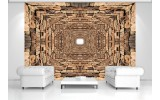 Fotobehang 3D, Modern | Bruin | 152,5x104cm