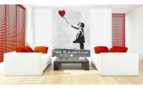 Fotobehang Papier Street Art | Rood | 184x254cm