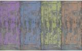 Fotobehang Papier Landelijk | Blauw, Paars | 254x184cm