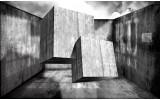 Fotobehang Vlies | 3D, Modern | Grijs | 368x254cm (bxh)