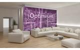 Fotobehang Tekst, Optimisme | Paars | 416x254
