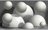 Fotobehang 3D, Modern | Grijs | 312x219cm