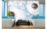 Fotobehang Paardenbloem | Blauw, Wit | 312x219cm