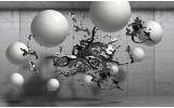 Fotobehang Vlies | Abstract, 3D | Zilver | 368x254cm (bxh)