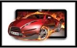 Fotobehang Auto, Vuur | Rood | 312x219cm