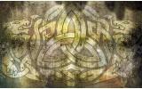 Fotobehang Abstract | Geel, Bruin | 312x219cm