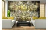Fotobehang Abstract | Geel, Bruin | 104x70,5cm