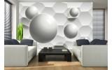 Fotobehang 3D, Modern | Wit, Grijs | 208x146cm