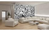 Fotobehang Luipaard | Zwart, Wit | 152,5x104cm