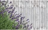 Fotobehang Hout, Lavendel | Grijs | 312x219cm