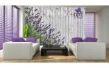 Fotobehang Hout, Lavendel | Grijs | 152,5x104cm