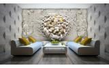 Fotobehang 3D, Muur | Geel, Crème | 152,5x104cm