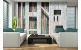 Fotobehang Modern, Hout | Grijs | 312x219cm
