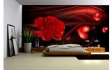 Fotobehang Roos, Slaapkamer | Zwart, Rood | 104x70,5cm