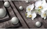 Fotobehang 3D, Orchidee | Grijs | 152,5x104cm