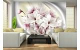 Fotobehang Magnolia, Bloemen | Zilver | 416x254