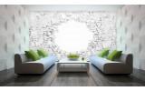 Fotobehang Muur, 3D | Wit | 208x146cm