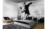 Fotobehang Papier Street Art | Grijs | 368x254cm