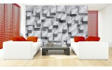 Fotobehang 3D, Modern | Grijs, Zilver | 312x219cm