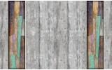 Fotobehang Papier Hout | Grijs, Bruin | 254x184cm