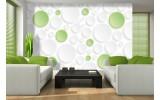 Fotobehang Papier Modern | Groen,Wit | 254x184cm