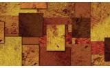 Fotobehang Modern | Bruin, Oranje | 208x146cm