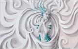 Fotobehang Papier 3D, Modern | Turquoise | 368x254cm