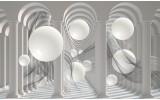 Fotobehang 3D, Modern | Wit | 312x219cm